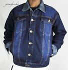 Mens Peviani denim jackets, urban g hip hop designer rock star denim, indigo