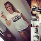 Women Girls Summer Funny White Tee Tops Short Sleeve T shirt Casual Loose Blouse
