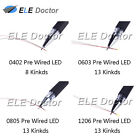 47 Kinds 0402 0603 0805 1206 SMD Warm White Pre-Wired Soldered LED Diodes Chip