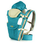 UK New Baby Carrier Backpack Sling Wrap with Removable Bag All Colour - 4 Ways