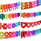 5 X 3M Paper GARLANDS - Themed (Bunting/Party/Birthday/Kids/Decoration/Hang)