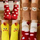 Women Winter Lovely Warm Home Slipper Socks Soft Winter Home Socks Christmas