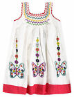 Girls Embroidered Floral Butterfly Baby Dress New Baby Cotton Dresses 6-24 Mnths