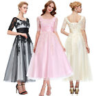 Lace Long Flower Girls Bridesmad Formal Wedding Ball Gown Cocktail Party Dresses