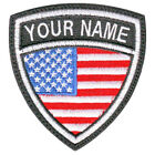 USA CUSTOM CREST FLAG NAME EMBROIDERED PATCH