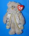 "TY COLLECTIBLE ATTIC TREASURES~ GWENDOLYN 9"" SILVER PLUSH BEAR/ DOG 1993 RETIRED"