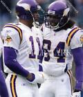 BN758 Daunte Culpepper & Randy Moss Vikings Celebrate Football 8x10 11x14 Photo