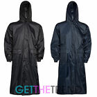 Mens Womens Long Waterproof Trenchcoat Cagoule Raincoat Kagool Kag Mac Jacket