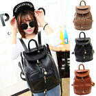 Fashion Women's PU Leather Travel Satchel Backpack Shoulder Bag School Rucksack