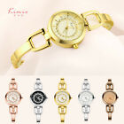 KIMIO Fashion Luxury Women's Quartz Watch Gold Dial Steel Bracelet Analog Watch