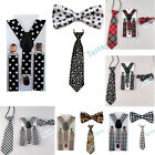 3PCS Suspenders Bowties Bow Ties Matching Braces Boys Child Children THHtr0004