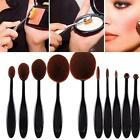 Pro Oval Flawless Makeup Face Powder Blusher Toothbrush Curve Foundation Brush