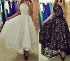 lady Lace Evening Party Cocktail Formal ball gown dress Long dress 2 colors hot
