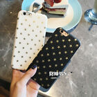 Luxury Fashion Golden Star Leather soft back case cover for iphone 7 6 6S plus