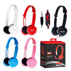 3.5mm Stereo Headphone Headset Childs Kids with Mic for iPhone Samsung Tablet PC