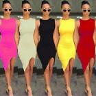 Sexy Womens Sleeveless Bodycon Pencil Evening Party Beach Dress Short Mini Dress
