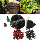 25m Micro Drip Irrigation System Plant Self Watering Garden Hose Kits Drippers
