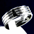 New Silver Polished Tungsten Carbide Men's Wedding Band Engagement Bridal Ring