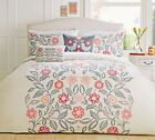 DUVET COVER QUILT SET RED MONTAGUE Dreams n Drapes SINGLE DOUBLE KING