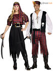 Adults Pirate Costume Mens Ladies Caribbean Buccaneer Maiden Fancy Dress Outfit