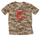 Majestic MLB Youth Cleveland Indians Digi Camo Short Sleeve T-Shirt, Brown