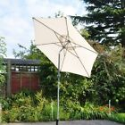 2m Aluminium Tilt Garden Parasol Sun Shade Patio Outdoor Umbrella Canopy Cream