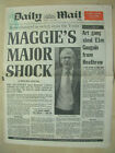 VINTAGE NEWSPAPER DAILY MAIL JULY 25th 1989 JOHN MAJOR GETS PROMOTION TORY PARTY