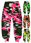Girls Neon Camo Harem Dance Pants New Kids Vibrant Ali Baba Costume Age 7-13 Yrs