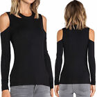 May&Maya Women's Long Sleeve with Cut Out Detail Craving Tops Shirt Blouse Tee