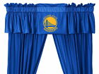 Golden State Warriors Drapes Curtains and Valance Set Choose Size