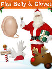 Mens Santa Full Costume Father Christmas Xmas Party Fancy Dress Outfit + Extras