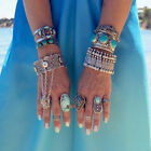 Turkish Festival Bohemian Ethnic Vintage Silver Coin Bracelet Chain Jewelry Gift