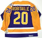 LUC ROBITAILLE LOS ANGELES KINGS CCM VINTAGE PURPLE 1987 ROOKIE YEAR JERSEY NEW
