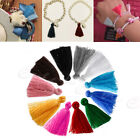 10Pcs 12CM Handmade Silky Tassels Decoration Pendant Key Chains Bag Accessories