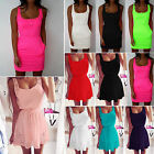 Plus Size Women Summer Sleeveless Casual Party Evening Cocktail Short Mini Dress
