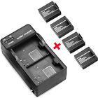 4PCS 3.7V 900mAh Li-ion Battery + Charger for SJ6000 SJ5000 SJ4000 Sport Camera