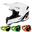 Airoh 2016 TWIST MX MTB Motocross Helm - Color - weiß + MX-2-Bude Brille