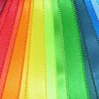 Quality Double Satin Ribbon 1-3 Metre Lengths 30 Colours 3mm - 25mm Polyester