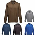 MEN'S EASY CARE, WICKING, LONG SLEEVE, POLO SHIRT, LIGHTWEIGHT S M L XL 2X 3X 4X