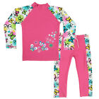 Cute Girls Sun Protection Swimsuit Kids Tops+Pants Floral Surfing Swimwear 3-10Y