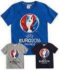 Boys Official Euros 2016 T-Shirt New Kids Short Sleeved UEFA Cotton Football Top