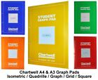 A4 Chartwell Student Graph Pad Notebooks (Isometric/Quadrille/Graph/Grid/Square)