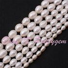 """White Natural Freshwater Pearl Gemstone For DIY Jewelry Making Beads Strand 15"""""""