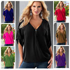 Plus Size Women Loose Casual Short Sleeve Shirt Tops Blouse Tee Tops blouse HOT