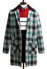 Mens Luxury Loose Over Fit Honor Class Check Coat Blazer Jacket Jumper W021- S/M