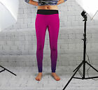 Pink Geometric Womens Spandex Leggings Gym Yoga Fashion Fitness Made In Uk
