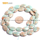 "Oval Sea Sediment Stone Beads For Jewlery Making 15"" Wholesale Jewlery Beads"
