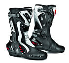 SIDI ST BLACK WHITE HINGED MOTORCYCLE SPORTS BIKE BOOTS SUITABLE FOR RACING