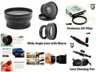 Z97 0.45X Wide Angle Lens w/ Macro + UV Filter + Lens Pen for Camera Camcorder