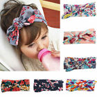 Fashion Baby Kids Girl Print Floral Butterfly Bow Hair Band Turban Knot Headband